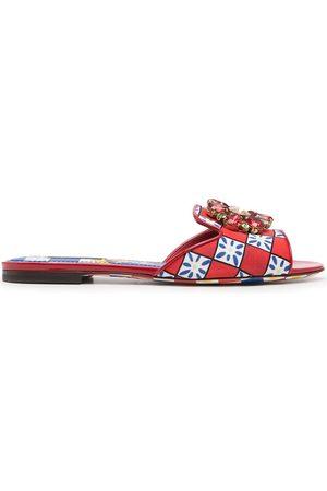Dolce & Gabbana Women Flat Shoes - Carretto print flat mules