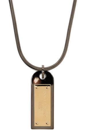 Dolce & Gabbana Logo-plaque drop necklace