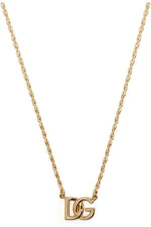 Dolce & Gabbana Men Necklaces - DG logo-plaque chain-link necklace