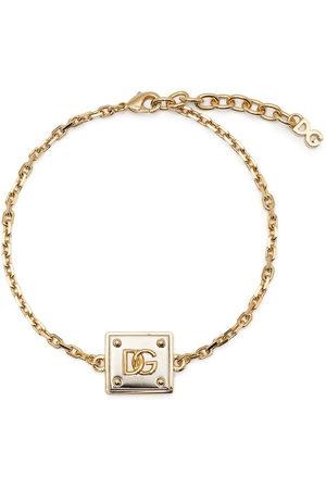 Dolce & Gabbana Men Bracelets - Logo-plaque chain-link bracelet