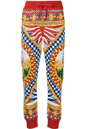 Dolce & Gabbana Carretto print track trousers