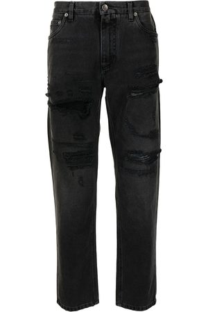 Dolce & Gabbana High-waisted ripped jeans