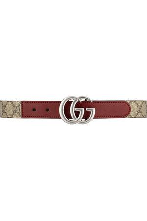 Gucci Boys Belts - GG logo-plaque belt