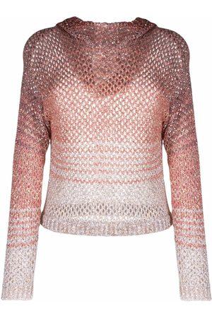 Missoni Women Sweaters - Open-knit hooded jumper