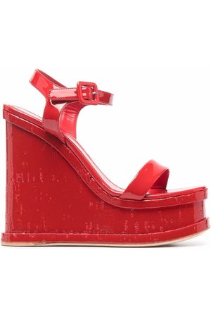 HAUS OF HONEY Women Wedges - Lacquer doll wedge-heel sandals