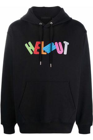 Helmut Lang 3D logo-print hoodie