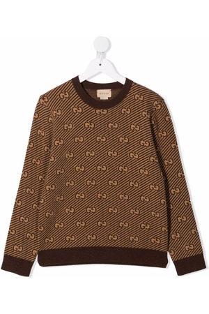 Gucci Monogram-print knitted jumper