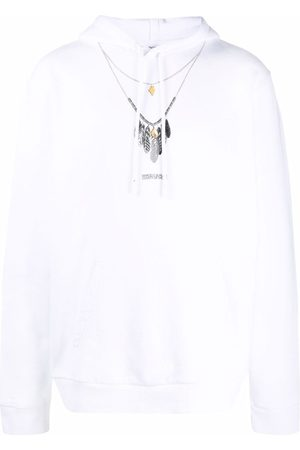 MARCELO BURLON Necklace-print hoodie