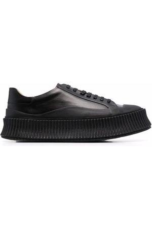 Jil Sander Women Platform Sneakers - Leather platform sneakers