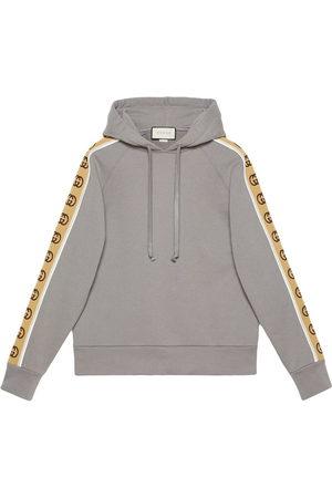 Gucci Men Hoodies - Logo-tape hoodie