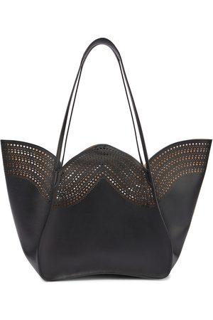 Alaïa Women Tote Bags - Lili 24 Medium laser-cut leather tote