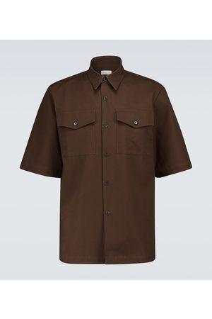 DRIES VAN NOTEN Short-sleeved cotton shirt