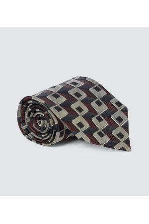 DRIES VAN NOTEN Men Neckties - Printed silk tie
