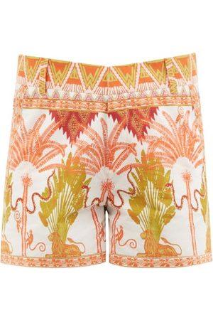 LE SIRENUSE, POSITANO Winter Garden-print Cotton Shorts - Womens - Print