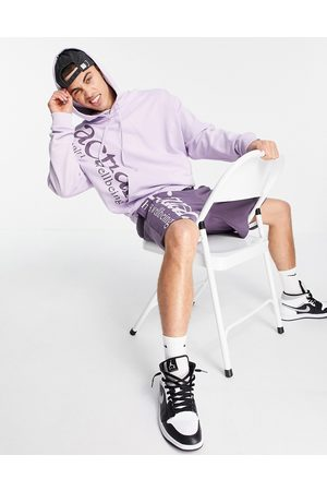 ASOS Co-ord oversized hoodie with health and wellbeing logo in lilac-Purple