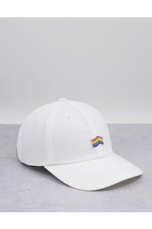Vans Pride curved bill jockey cap in white