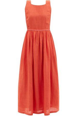 LE SIRENUSE, POSITANO Women Dresses - Julia Calypso Linen-voile Dress - Womens