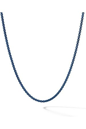 "David Yurman Silver Box Chain Necklace/26"" x 4mm"