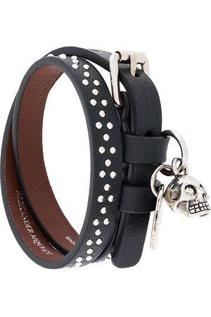 Alexander McQueen Studded skull charm bracelet