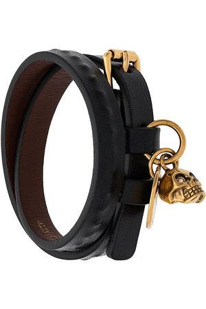 Alexander McQueen Men Bracelets - Double wrap skull bracelet