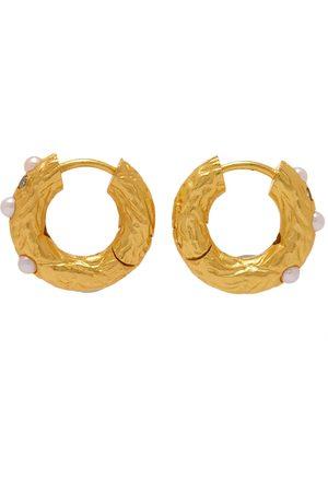 Anni Lu Men Earrings - Gem Pearl Hoop Earring
