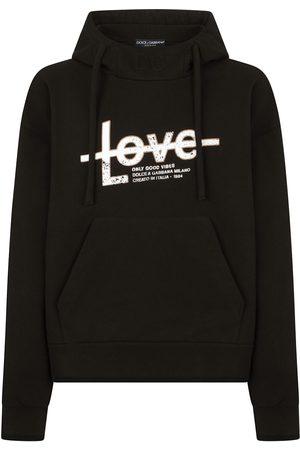 Dolce & Gabbana Men Hoodies - Slogan-print hoodie