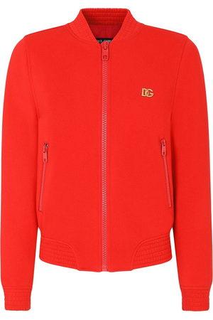 Dolce & Gabbana Logo-plaque bomber jacket