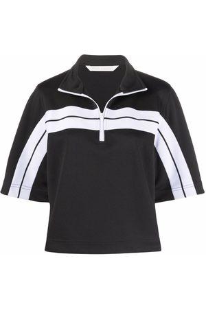 Palm Angels Women Polo Shirts - Logo-print track polo shirt