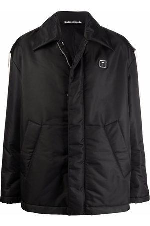 Palm Angels Side-stripe padded jacket