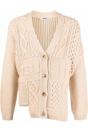 AMBUSH Patchwork-knit logo-detail cardigan