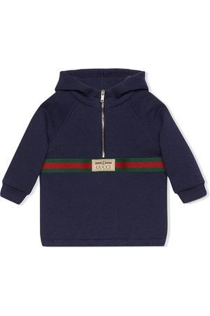 Gucci Hoodies - Web stripe-detail hoodie