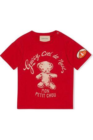 Gucci Short Sleeve - Teddy bear-print T-shirt