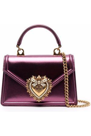 Dolce & Gabbana Devotion metallic crossbody bag