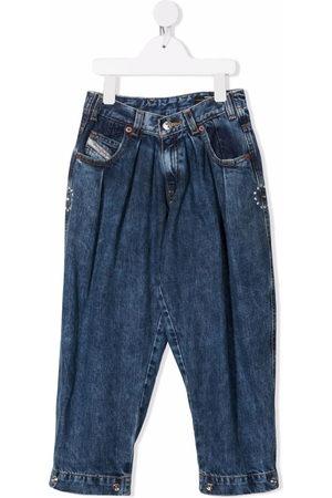 Diesel Tapered crystal-embellished jeans
