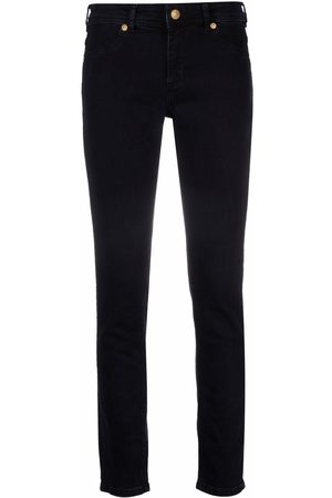 VERSACE Women Skinny - Embroidered-logo slim-fit jeans