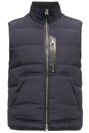 Tom Ford Technical-shell Quilted Down Gilet - Mens - Navy
