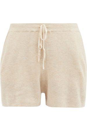 SKIN Weslin Organic Cotton-blend Shorts - Womens - Light