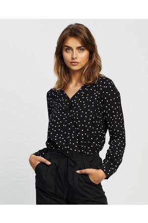 Atmos&Here Spotty Roll Sleeve Shirt - Tops ( & Spot) Spotty Roll Sleeve Shirt