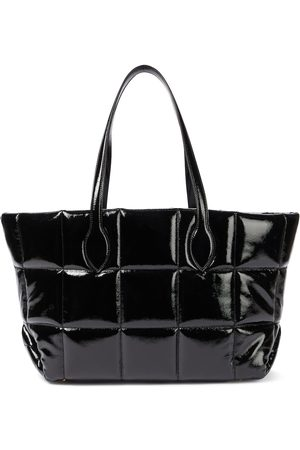 Khaite Florence quilted patent leather tote