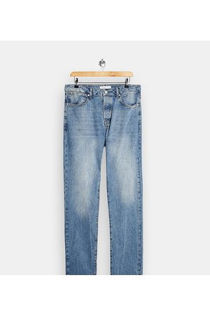 Topman Tall straight jeans in light wash