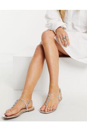 Oasis Women Sandals - Embellished toe post sandals in