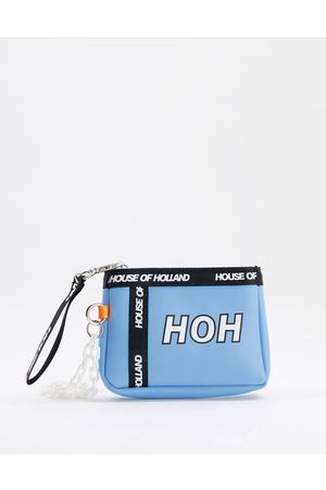 House of Holland Wristlet coin purse with chunky chain in light blue
