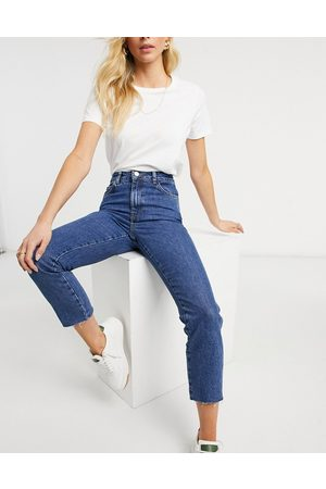 Whistles Authentic slim frayed jeans in