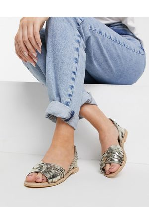 Oasis Real leather crisscross sandals in