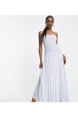 ASOS ASOS DESIGN Tall pleated bandeau maxi dress in -Multi
