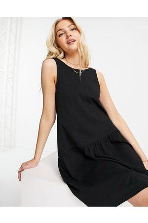 ASOS Sleeveless smock dress with v back in
