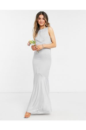Oasis Bridesmaid high neck maxi dress with cowl back in
