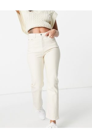 & OTHER STORIES & Favourite organic blend cotton straight leg high rise jeans in -Neutral
