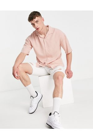 Pull&Bear Shirt with revere collar in