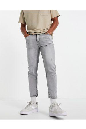New Look Men Slim - Slim crop jeans in mid